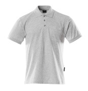 00783-260-08 Poloshirt met borstzak - grijs-melêe