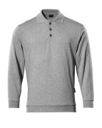 00785-280-08 Polosweatshirt - grijs-melêe