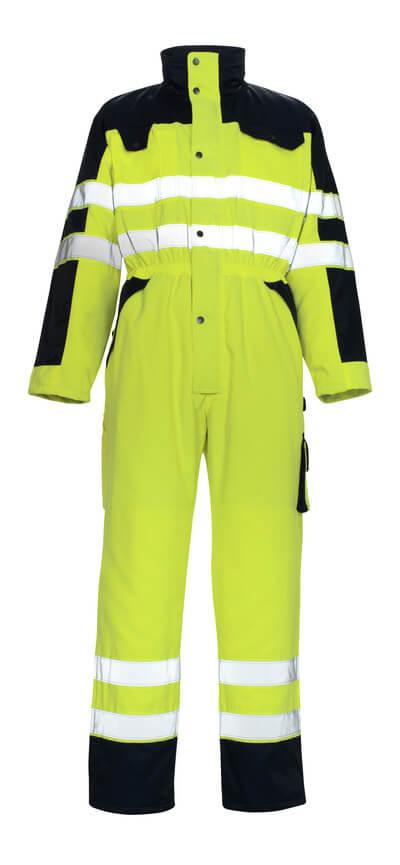 00921-660-171 Winteroverall - hi-vis geel/marine