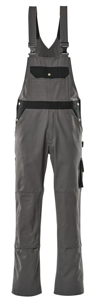 00962-630-8889 Amerikaanse overall met kniezakken - antraciet/zwart