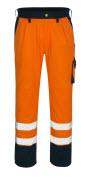 00979-860-141 Pantalon avec poches genouillères - Hi-vis orange/Marine