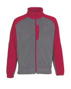 06042-137-88802 Fleece jas - antraciet/rood