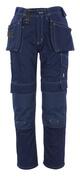 06131-630-01 Broek met knie- en spijkerzakken - marine