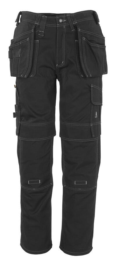 06131-630-09 Pantalon avec poches genouillères et poches flottantes - Noir