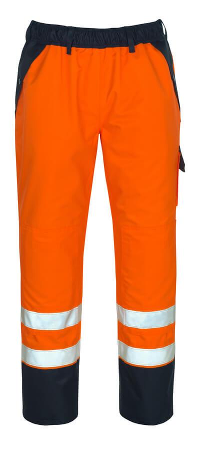 07090-880-141 Overtrekbroek met kniezakken - hi-vis oranje/marine