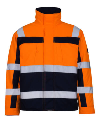 07123-126-141 Pilotenjas - hi-vis oranje/marine
