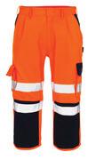 07149-860-141 Driekwart broek met kniezakken - hi-vis oranje/marine