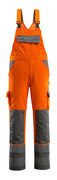 07169-860-14888 Amerikaanse overall met kniezakken - hi-vis oranje/antraciet