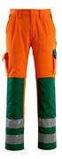 07179-860-1403 Broek met kniezakken - hi-vis oranje/groen
