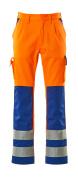 07179-860-1411 Broek met kniezakken - hi-vis oranje/korenblauw