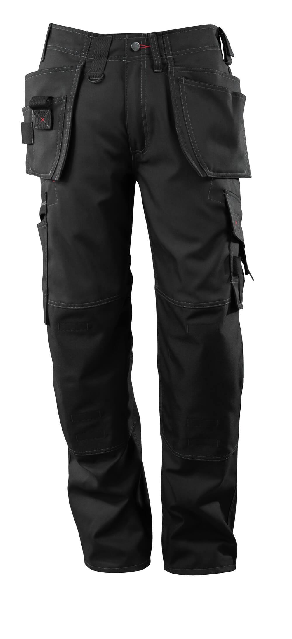 07379-154-09 Pantalon avec poches genouillères et poches flottantes - Noir