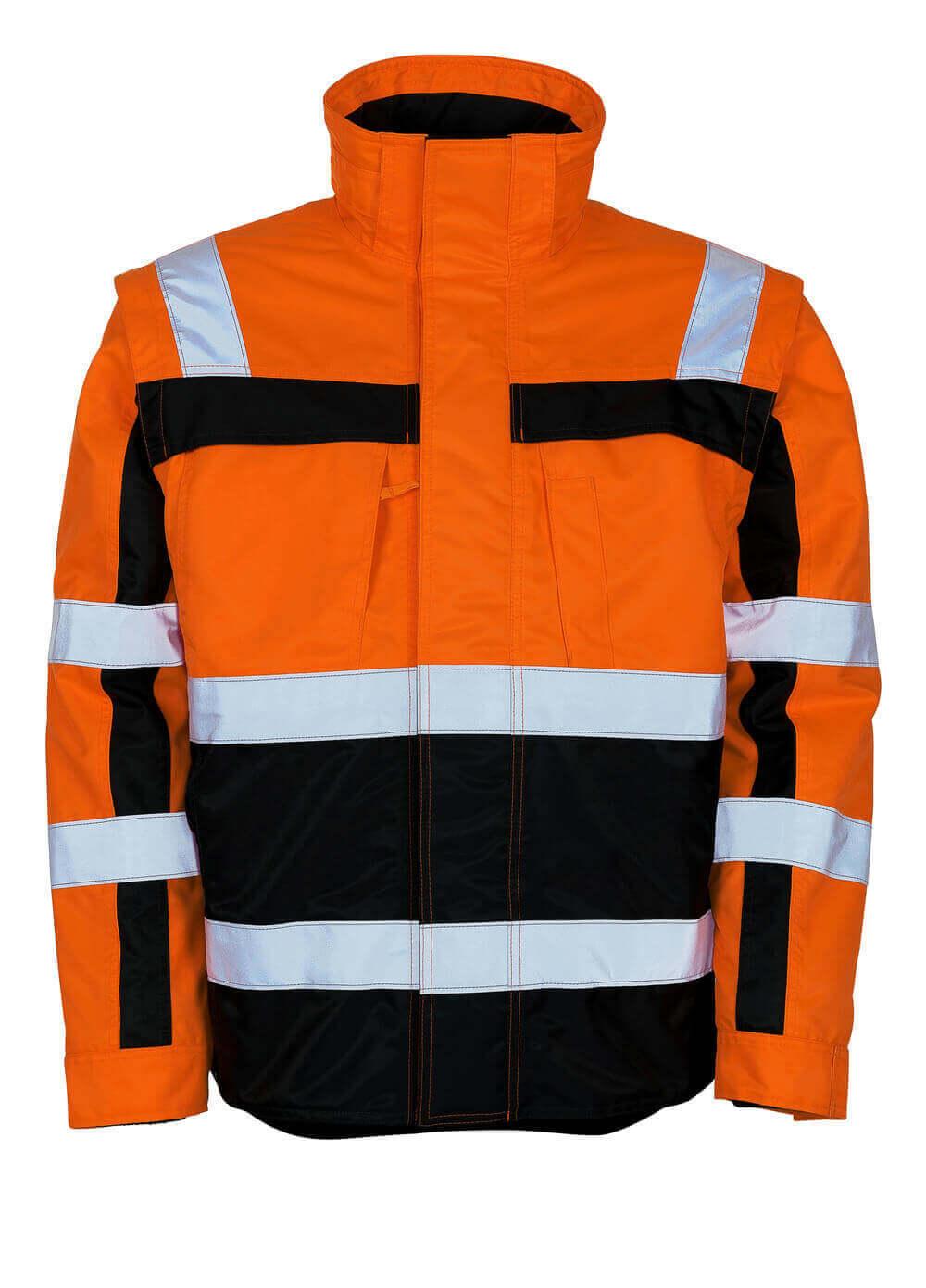 09335-880-141 Winterjack - hi-vis oranje/marine