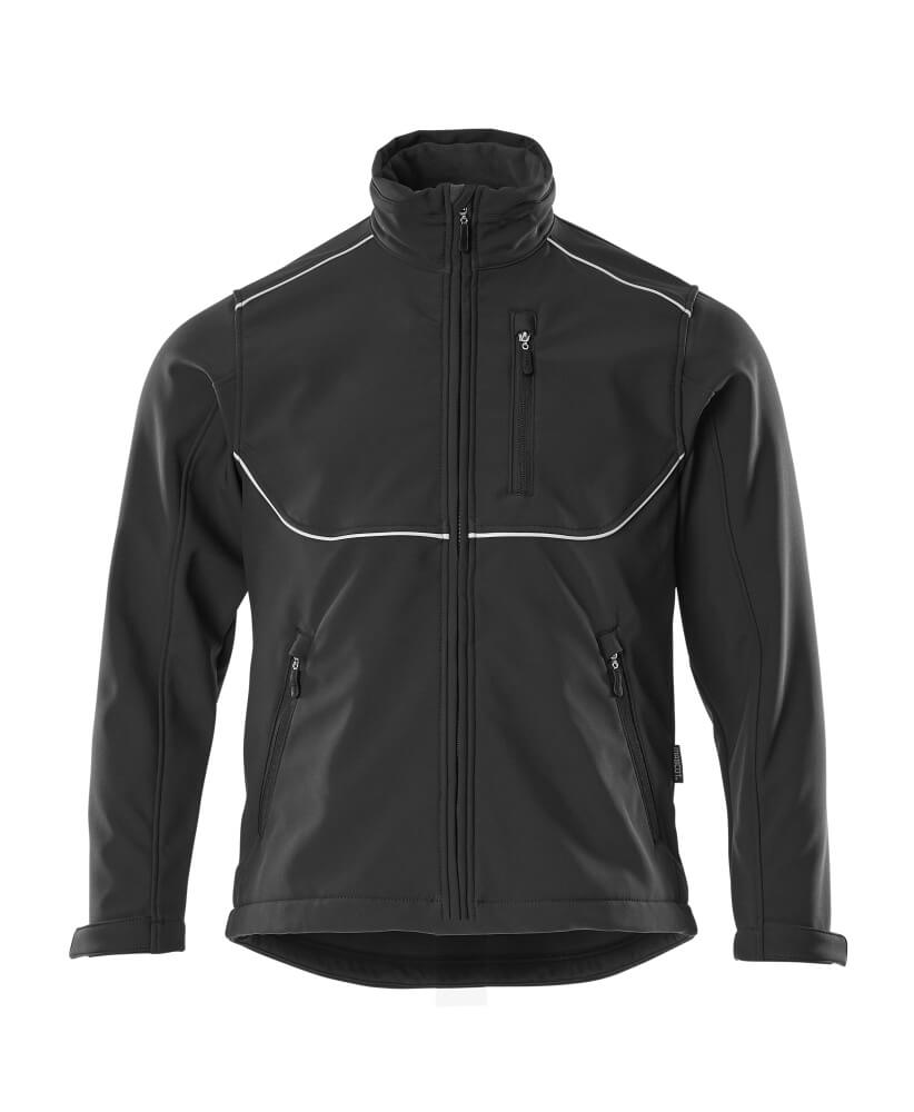 10001-883-09 Softshell jas - zwart