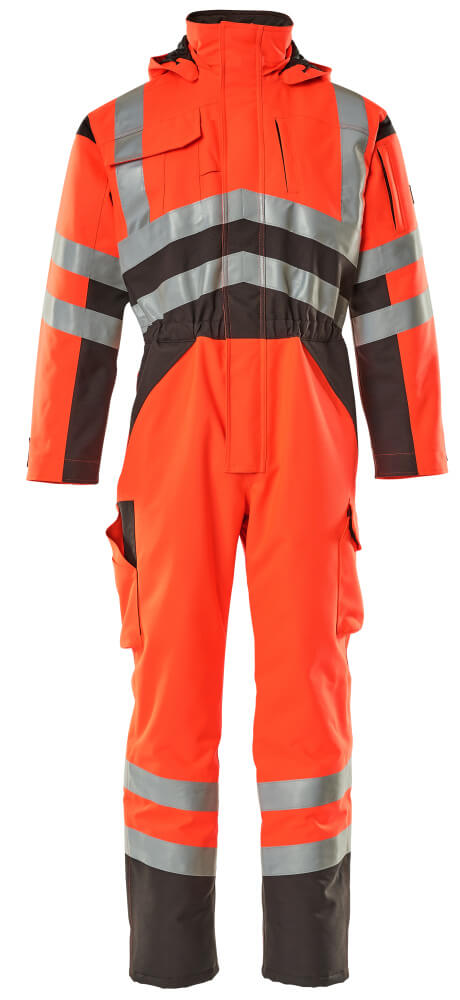 11019-025-A49 Winteroverall - hi-vis rood/donkerantraciet
