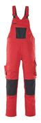 12069-203-0918 Amerikaanse overall met kniezakken - zwart/donkerantraciet