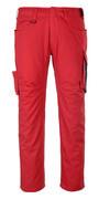 12079-203-0209 Pantalon avec poches cuisse - Rouge/Noir