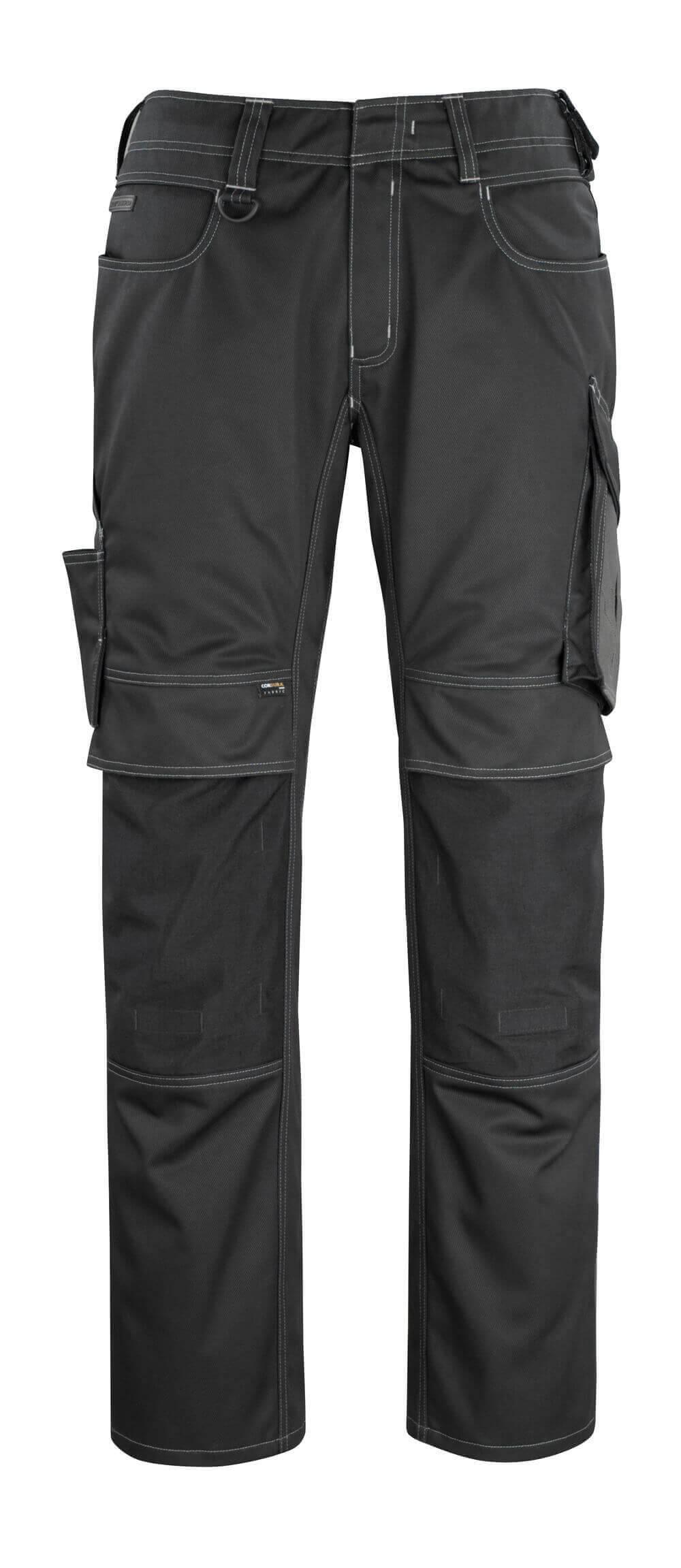 12179-203-0918 Broek met kniezakken - zwart/donkerantraciet