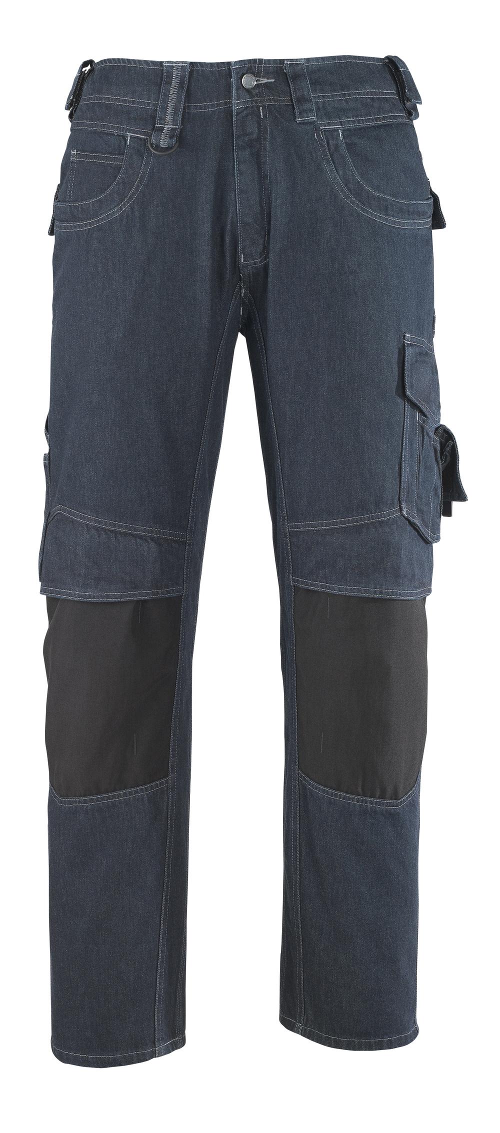 13279-207-B52 Jeans avec poches gensouillères - Bleu denim