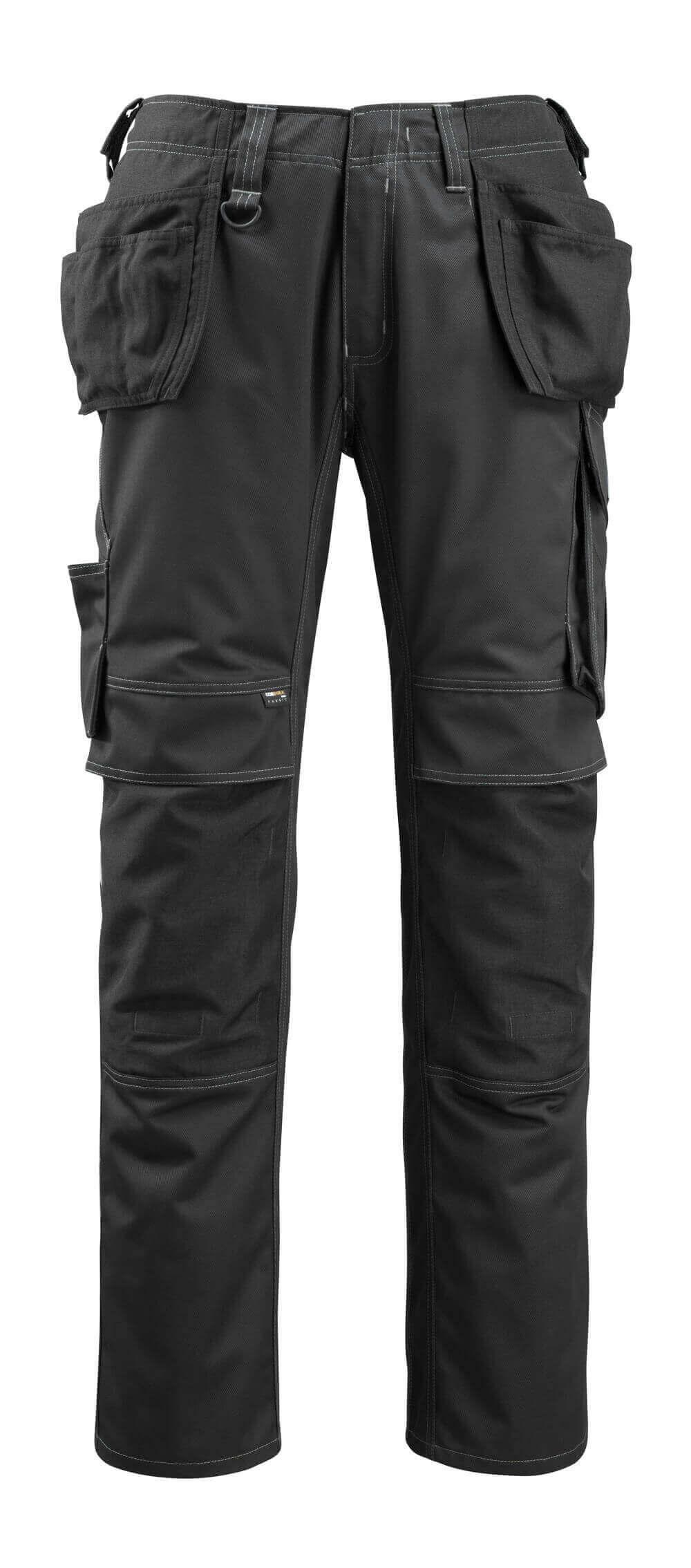 14131-203-09 Broek met spijkerzakken - zwart