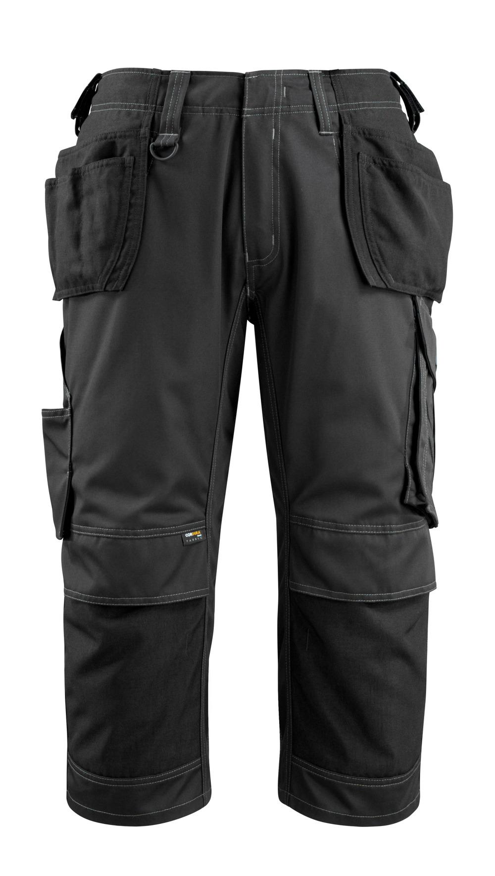 14449-442-09 Driekwart broek met knie- en spijkerzakken - zwart