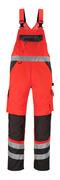 14969-860-A49 Salopette avec poches genouillères - Hi-vis rouge/Anthracite foncé