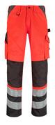 14979-860-A49 Pantalon avec poches genouillères - Hi-vis rouge/Anthracite foncé