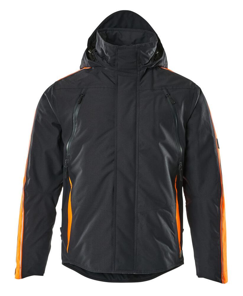 15035-222-01014 Winterjas - donkermarine/hi-vis oranje
