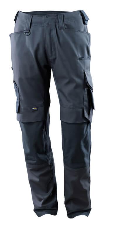 15079-010-010 Pantalon avec poches genouillères - Marine foncé