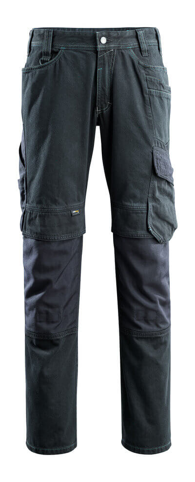 15179-207-86 Jeans met kniezakken - donkerblauw denim