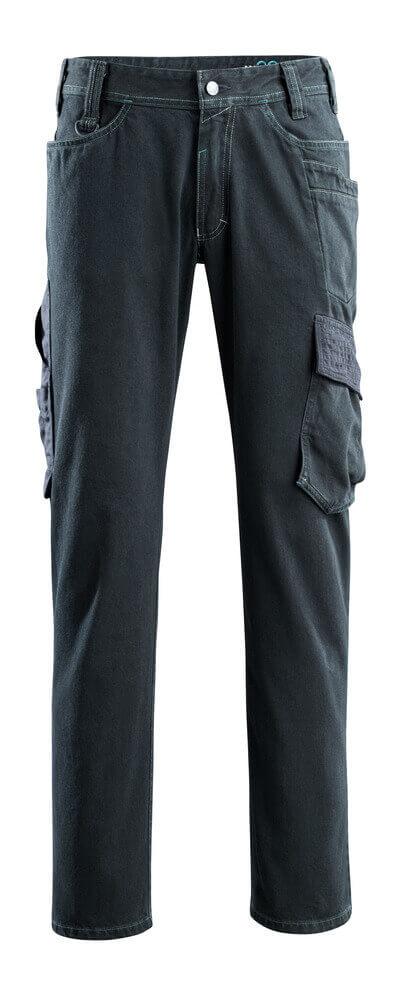 15279-207-86 Jeans met dijbeenzakken - donkerblauw denim