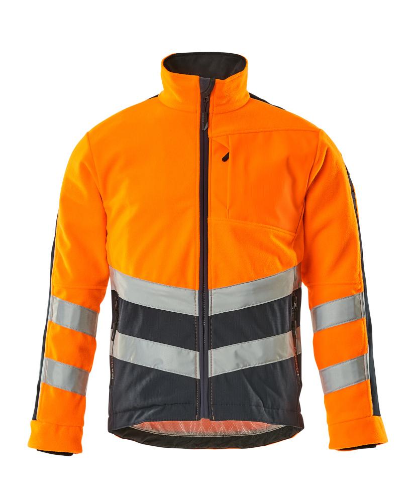 15503-259-14010 Fleecejack - hi-vis oranje/donkermarine