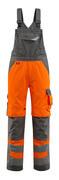 15569-860-1418 Amerikaanse overall met kniezakken - hi-vis oranje/donkerantraciet
