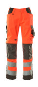 15579-860-14010 Pantalon avec poches genouillères - Hi-vis orange/Marine foncé