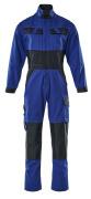 15719-330-11010 Overall met kniezakken - korenblauw/donkermarine