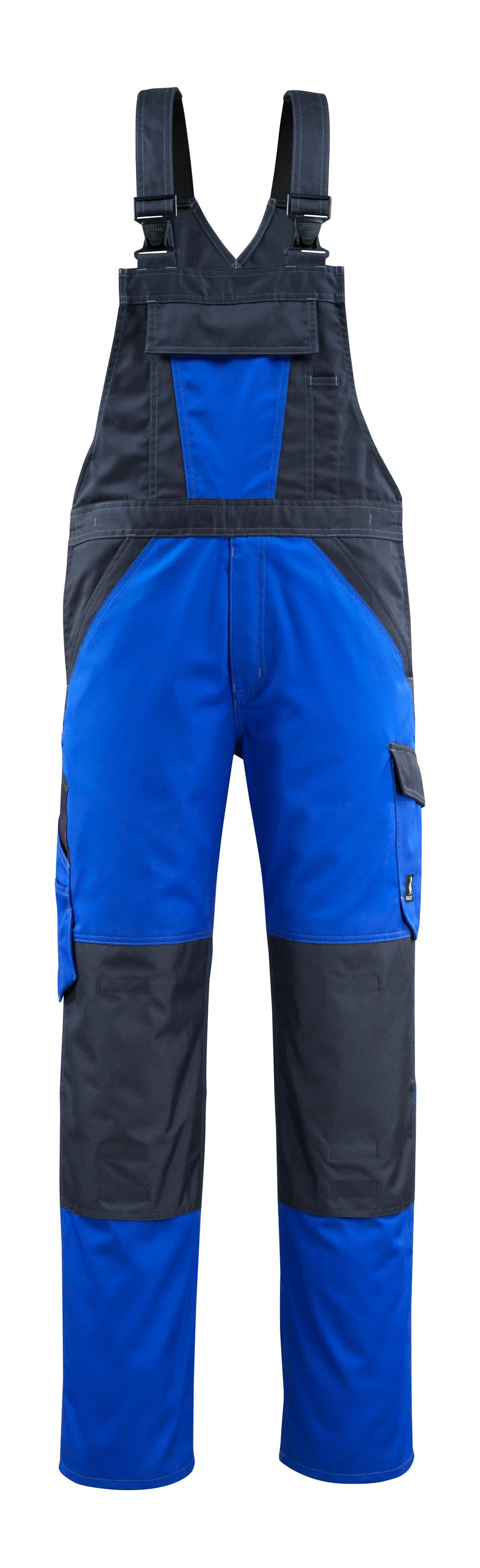 15769-330-11010 Amerikaanse overall met kniezakken - korenblauw/donkermarine
