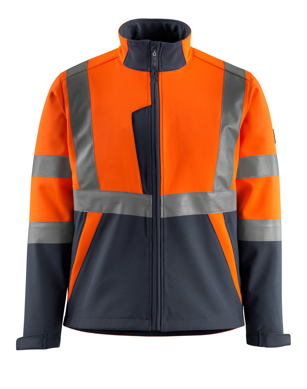 15902-253-14010 Softshell jack - hi-vis oranje/donkermarine