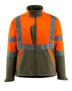 15902-253-1433 Softshell jack - hi-vis oranje/mosgroen