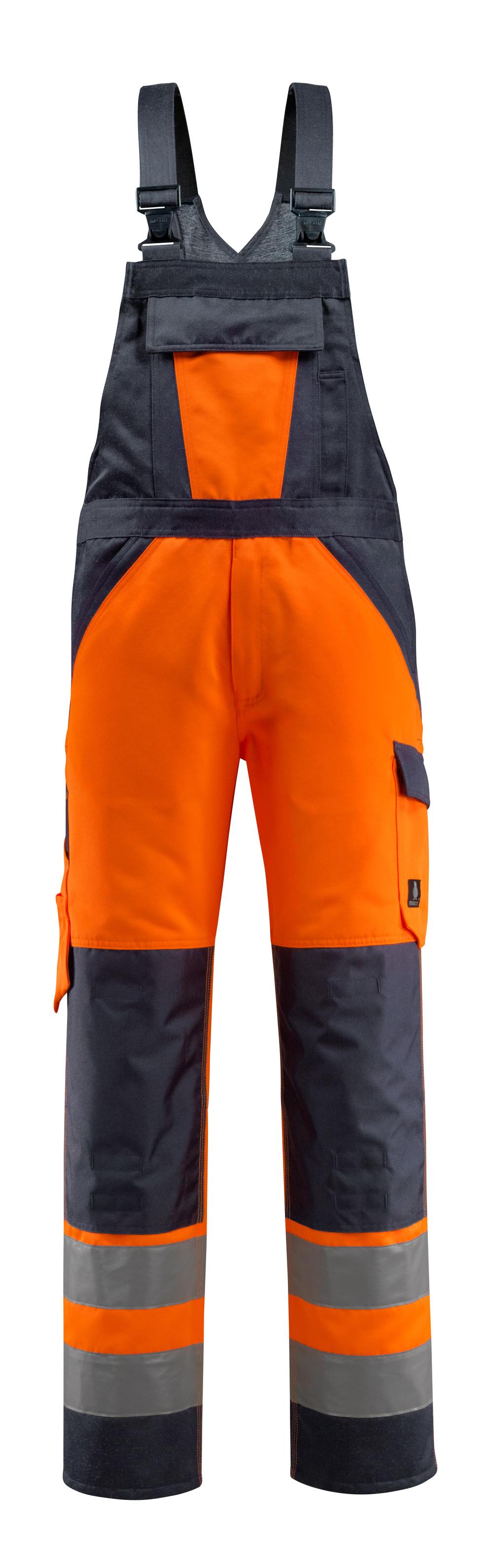 15969-948-14010 Amerikaanse overall met kniezakken - hi-vis oranje/donkermarine