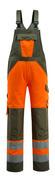 15969-948-1433 Amerikaanse overall met kniezakken - hi-vis oranje/mosgroen