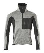17003-316-0809 Pull polaire demi-zippé - Différents tons de gris/Noir/Rouge*