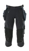 17049-311-09 Driekwart broek met spijkerzakken - zwart