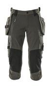 17049-311-18 Driekwart broek met knie- en spijkerzakken - donkerantraciet
