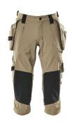17049-311-55 Driekwart broek met knie- en spijkerzakken - lichtkhaki