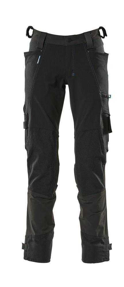 17079-311-09 Broek met kniezakken - zwart
