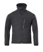17105-309-09 Veste tricot zippé - Noir