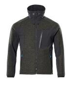 17105-309-3309 Veste tricot zippé - vert foncé