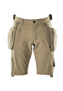 17149-311-55 Shorts met spijkerzakken - lichtkhaki