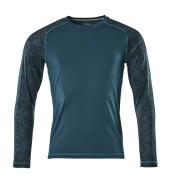 17281-944-44 T-shirt, manches longues - Bleu pétrole