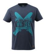 17282-994-66 T-shirt - gewassen donkerblauw denim