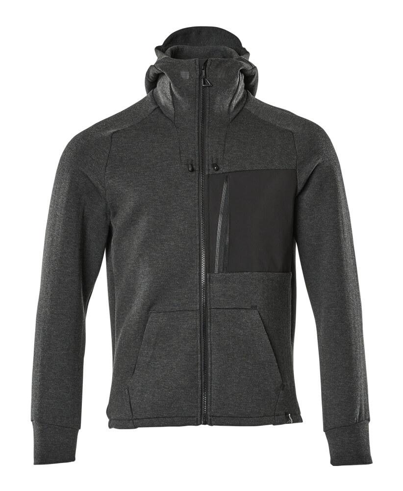 17384-319-09 Sweat capuche zippé - Noir